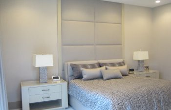 Master bedroom headboard and nite tables